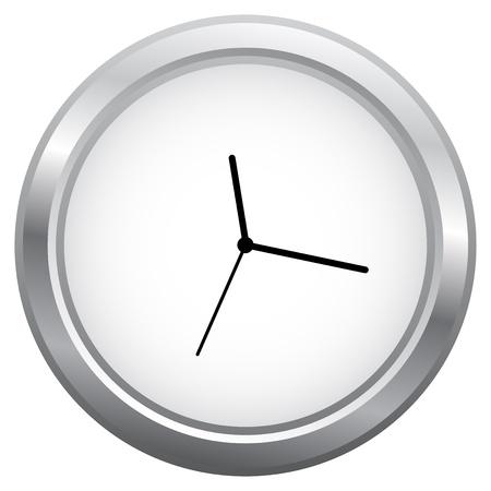 analog dial: Minimalist Clock Isolated On White Illustration