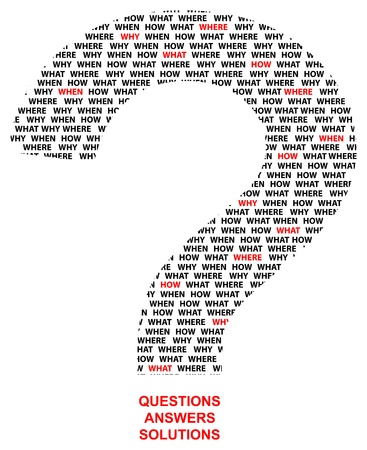 where: Question Mark Made Of What When Why Where Questions Illustration