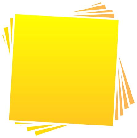 Many Blank Post It Notes Or Photo Frames On A White Background Stock Illustratie