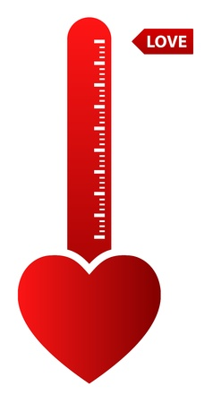 Illustration Of Thermometer Indicating Love Stock Vector - 18625402
