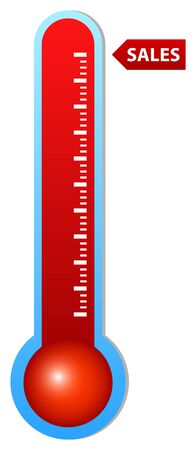 clinical thermometer: Illustration Of Thermometers Indicating Very High Sales