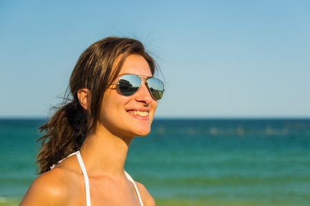 Portrait Of A Happy Young Girl In Vacation Stock Photo - 18664850