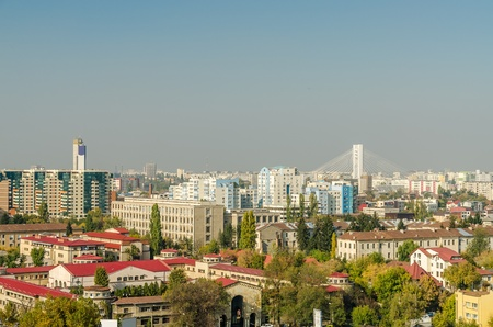 bucuresti: Bucharest City In Romania Viewed From Municipal Hospital Of Emergency Editorial