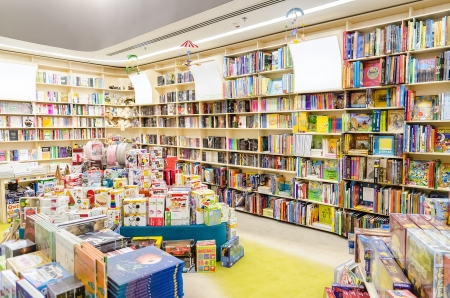 scholastic: Library Bookshelves With Children Books
