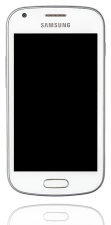 White Samsung Galaxy Isolated On White Stock Photo - 18740084