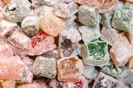 Closeup Of Multicolored Turkish Delight Stock Photo - 18762449