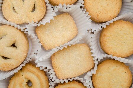 Different Biscuits With Sugar In A Box Stock Photo - 18762606