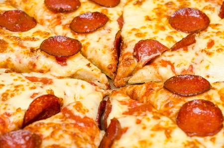 Closeup Photo Of Pepperoni Pizza Slice Stock Photo - 18762538