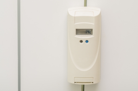 calorifer: Heat Recording Device Mounted On A Radiator  It Can Help You Adjust The Heat Consumption Every Month