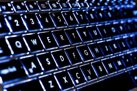 function key: Blue Qwerty Illuminated Notebook Keyboard