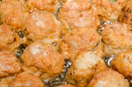 Delicious Pile Of Meat Balls Stock Photo - 18762624