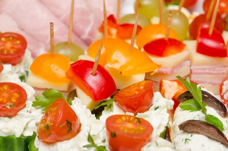 Closeup Photo Of Delicious Catering Food Stock Photo - 18762502