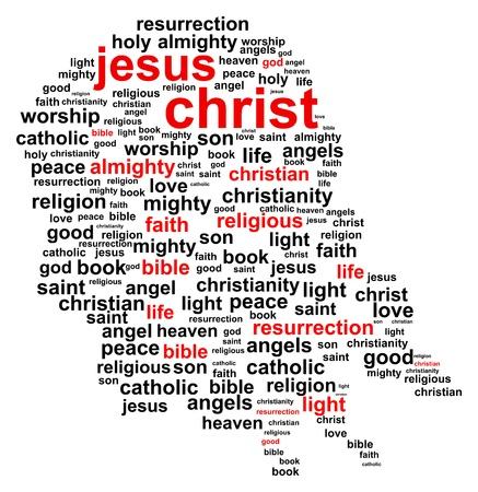 testament: Jesucristo nube de la palabra Vectores