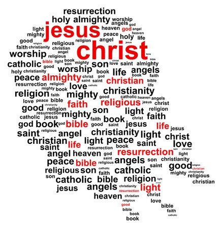 Jesus Christ Word Cloud Vector