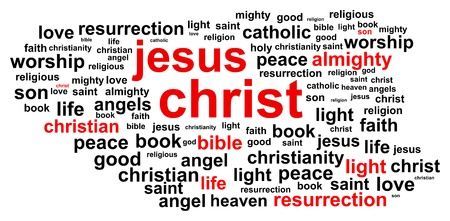 jesus clouds: Jesus Christ Word Cloud Concept