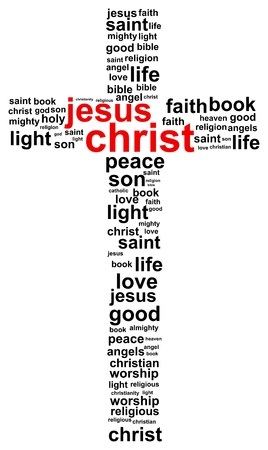 christian prayer: Jesus Christ Word Cloud Concept