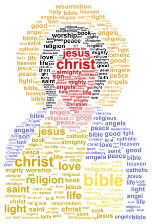messiah: Ges? Cristo Nube Concetto Word
