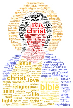 catholicism: Jesus Christ Word Cloud Concept