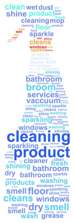 Cleaning Product Word Cloud Concept