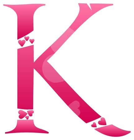 buchstabe k: Letter K Liebe Alphabet Set