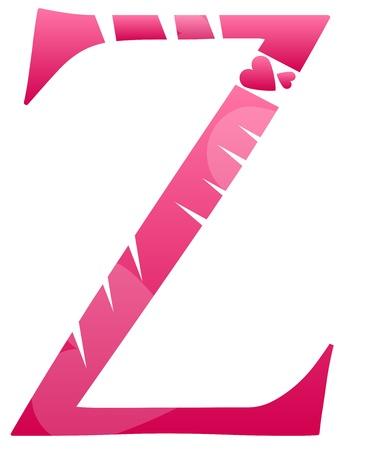 buchstabe z: Letter Z Liebe Alphabet Set