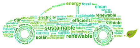 Clean Energy Car Concept Word Cloud Vector