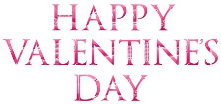 Happy Valentines Day Words Concept Royalty Free Cliparts Vectors