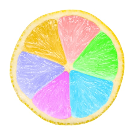 sectioned: Multicolored Lemon Slice