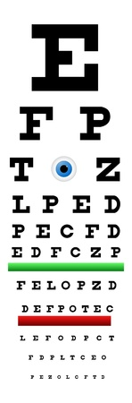 Snellen Chart Eye Test Vector