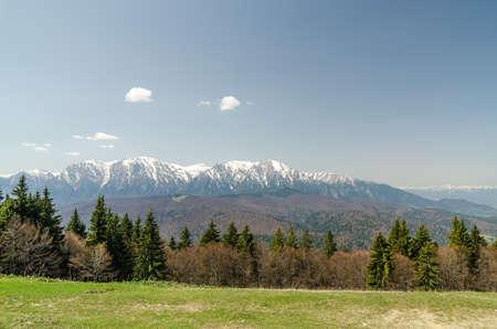 Carpathian Mountains Landscape In Romania