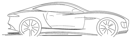 Sport Car Sketch Vector