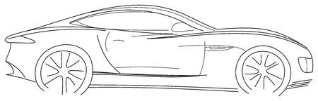 sports car: Sports Car Sketch Illustration
