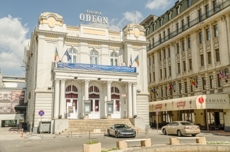 BUCHAREST, ROMANIA - MAY 05: The Odeon Theater on May 05, 2013 in Bucharest, Romania. It is one of the best-known performing arts venues in Bucharest, and was built in 1911. Stock Photo - 19389062