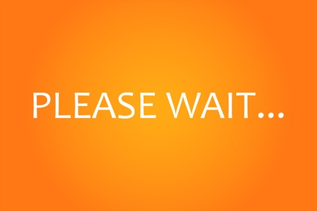 Please Wait Screen Vector