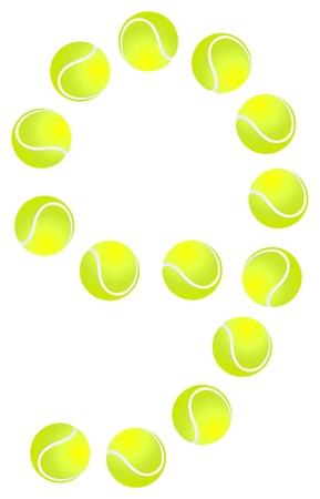 9 ball: Tennis Ball Number 9