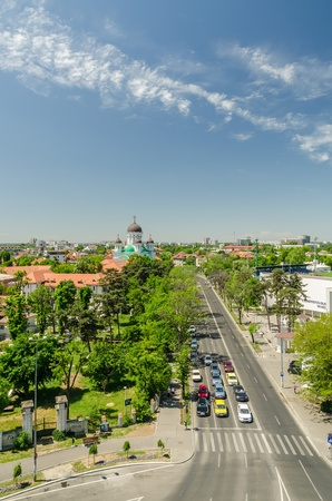 mentioned: BUCHAREST, ROMANIA - MAY 12: Bucharest View on May 12, 2013 in Bucharest, Romania. First mentioned in 1459, became the capital of Romania in 1862 and is the centre of Romanian media, culture and art. Editorial