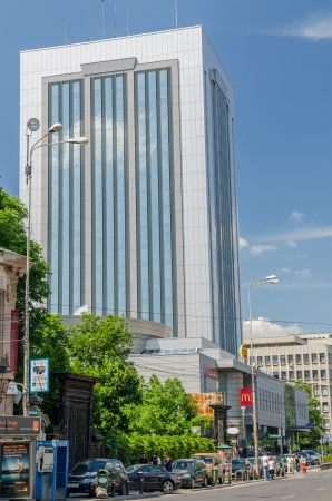 BUCHAREST, ROMANIA - MAY 16: Howard Johnson Hotel on May 16, 2013 in Bucharest, Romania. It is a 70 metres (230 ft) high, five star hotel in Bucharest. The building has 18 floors and 285 luxury rooms. Stock Photo - 19599190