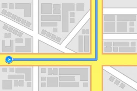 City Map Destination Route Illustration Vector