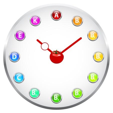 Health Clock Concept Stock Vector - 19756497