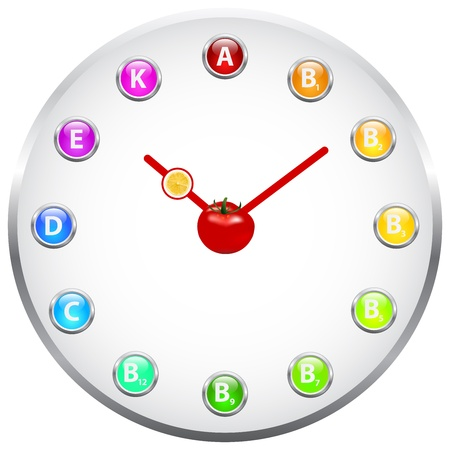 Healthy Life Clock Stock Photo - 19756560