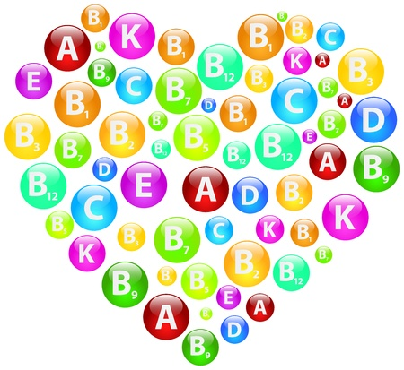 Vitamin Heart Stock Vector - 19939170