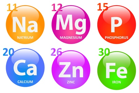 Essential Minerals For A Healthy Life Vector