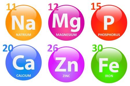 mineralien: Essentiellen Mineralien f�r ein gesundes Leben Illustration