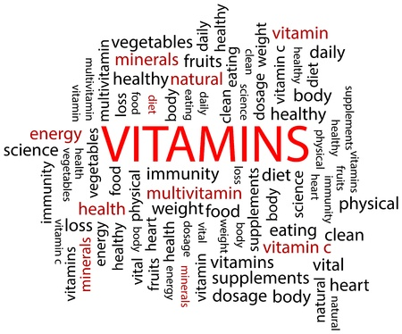 Vitamins Word Cloud Stock Vector - 19939224