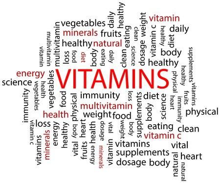 Vitamins Word Cloud Stock Vector - 19939224