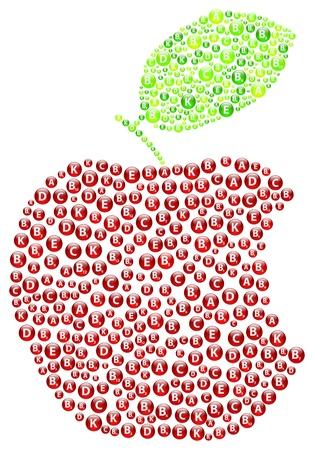 apple bite: Red Apple Bite Illustration