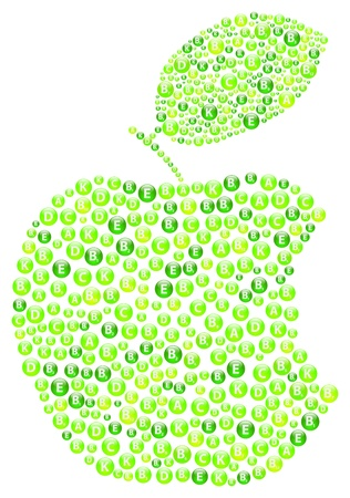 apple bite: Green Apple Bite Illustration