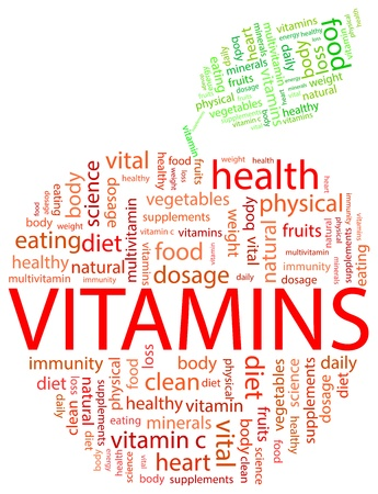 Red Apple Vitamin Word Cloud Concept Stock Vector - 19939252