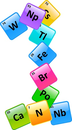 Periodic Table Of Elements Number 1 Stock Vector - 19939261