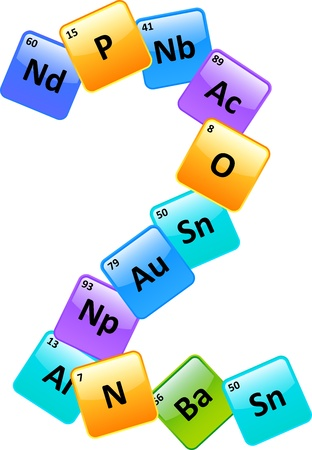Periodic Table Of Elements Number 2 Stock Vector - 19939254
